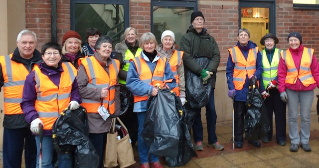 Volunteers help at Great British Spring Clean