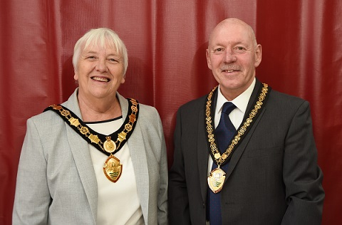 New Chairman Barbara Johnson and vice chairman Stephen Bilbie