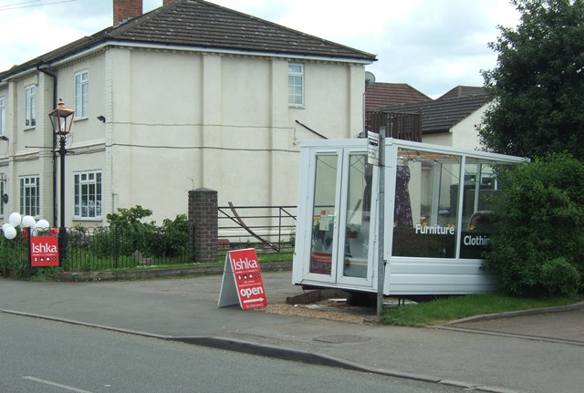 Illegal display cabinet in Broughton Astley