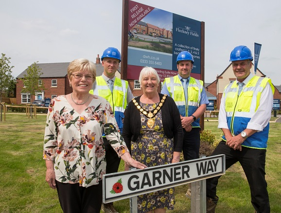 Garner Way street sign unveiling