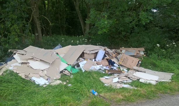 Fly tip in Stoughton
