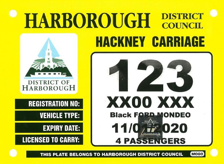 Hackney Carriage Plate