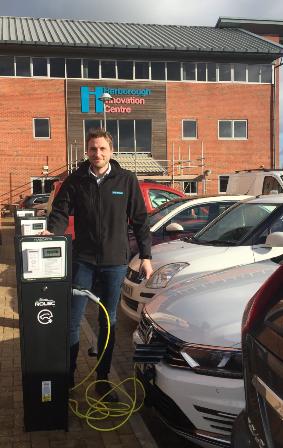 Electric charging points at the HIC