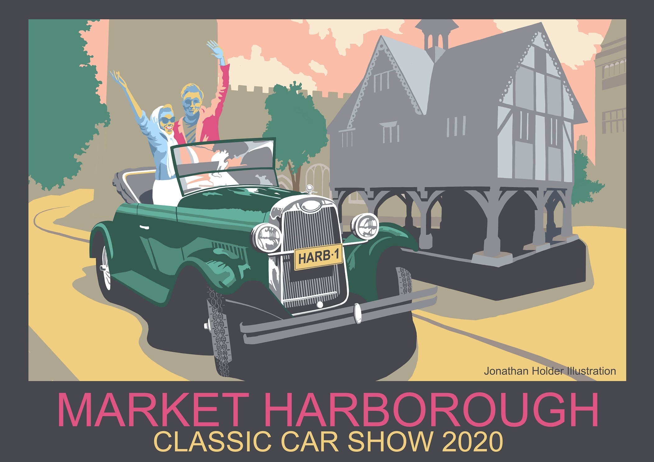 Classic car show poster 2020