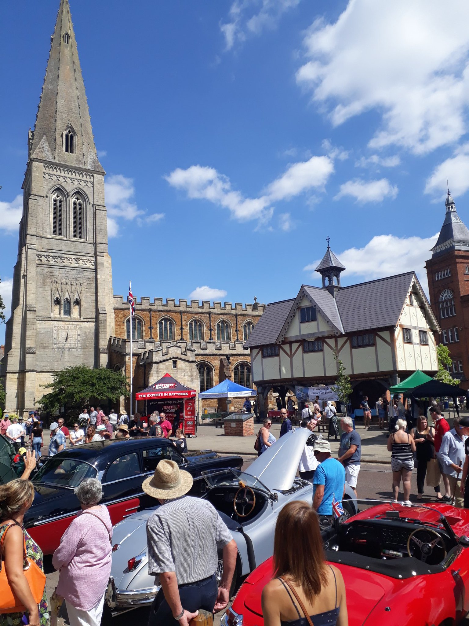Classic car show in Market Harborough