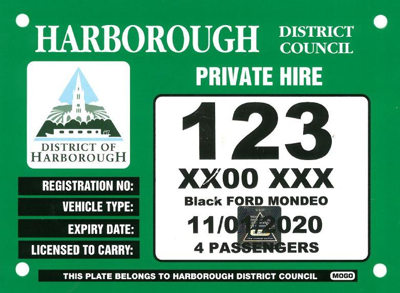 Private Hire Plate