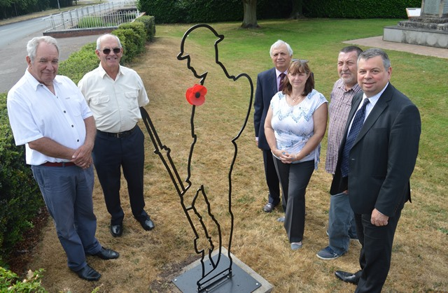 WWI silhouette installed in Broughton Astley